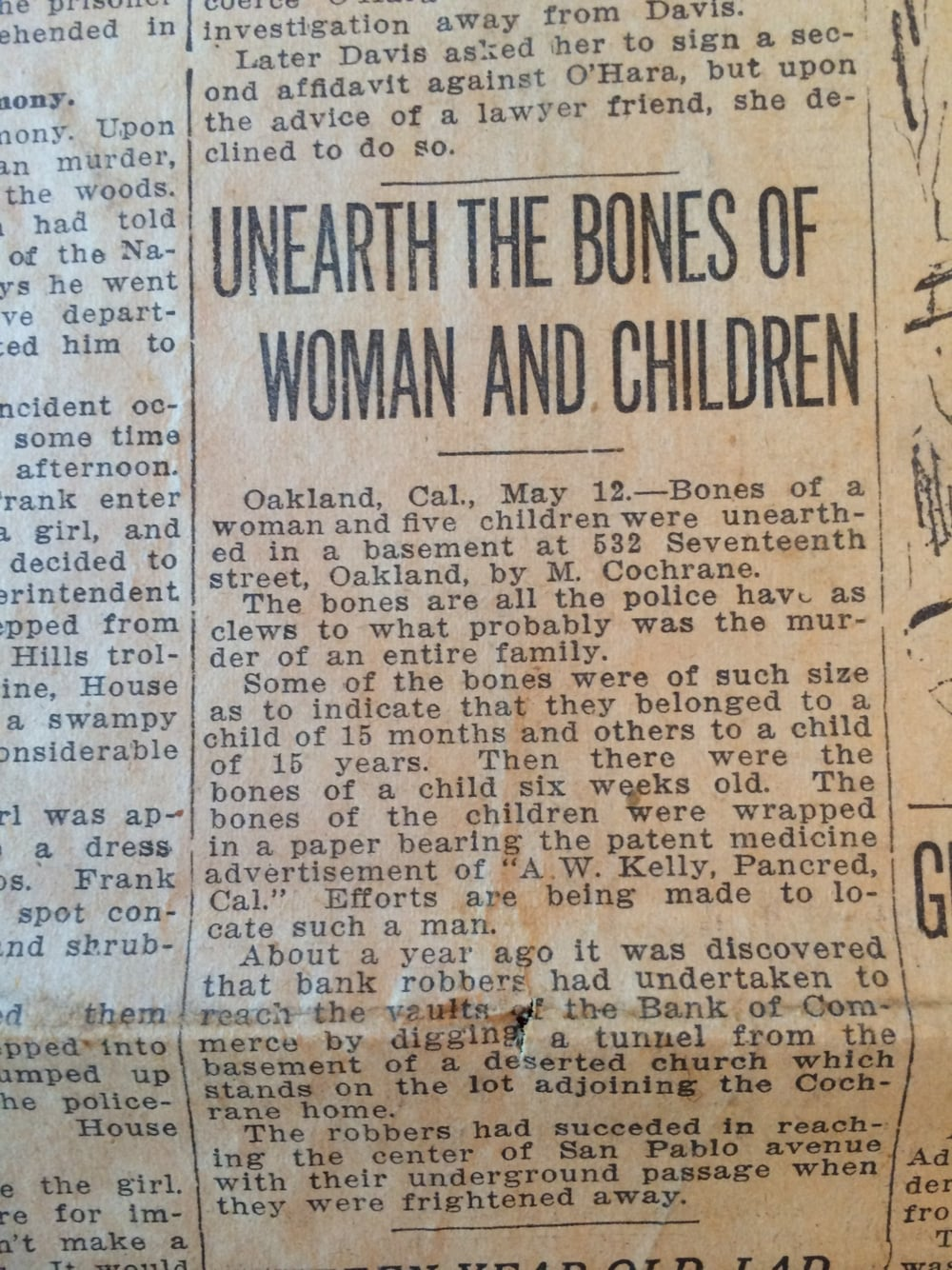 """Unearth the Bones of Woman and Children"""
