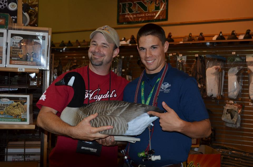 Myself with Jeff Fuller of Sporting Dog Adventures while attending the Cabela's Waterfowl Classic in Richfield, WI