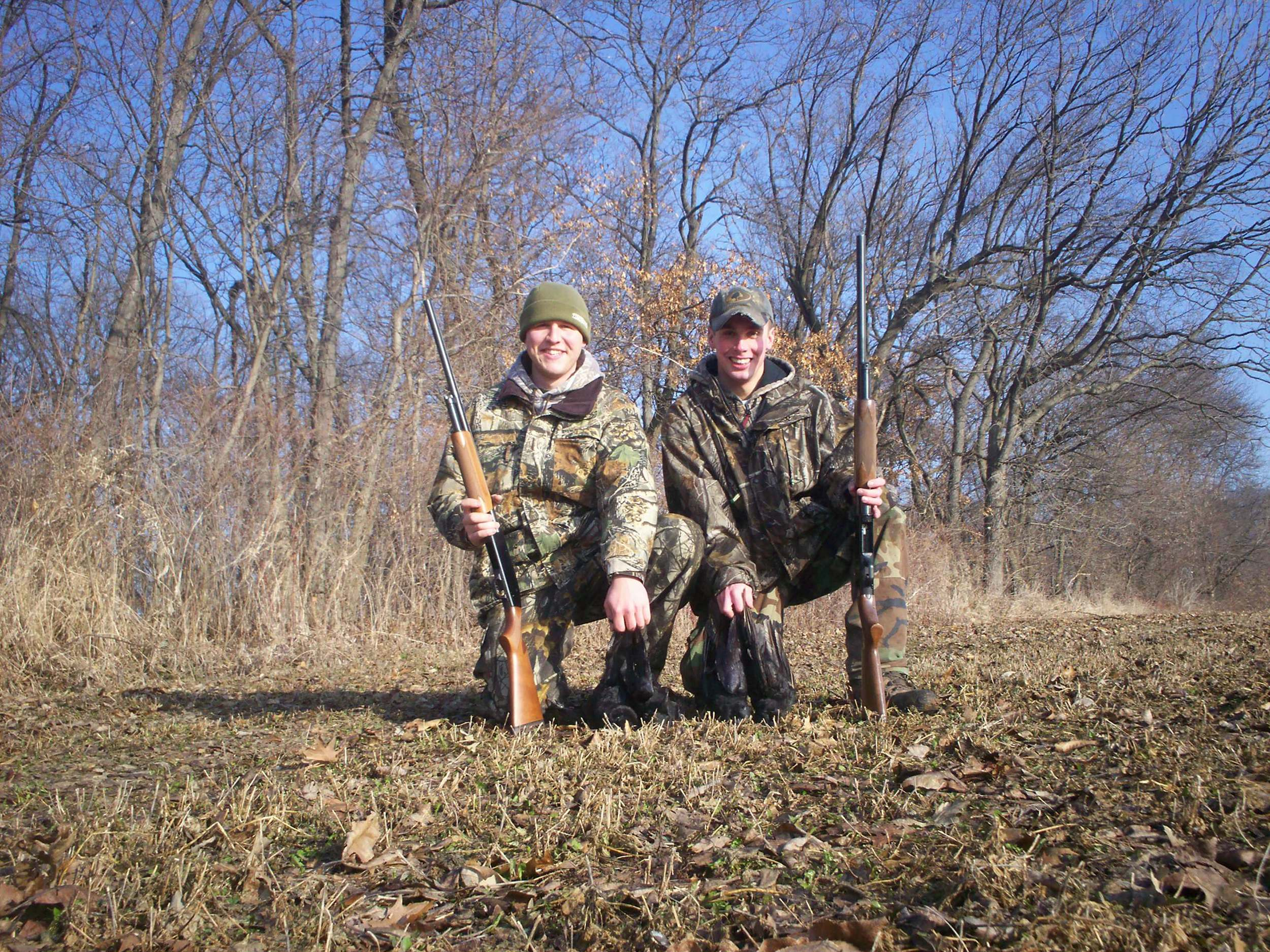 Mitch Keeser and Michael Kurtz after a morning hunt.