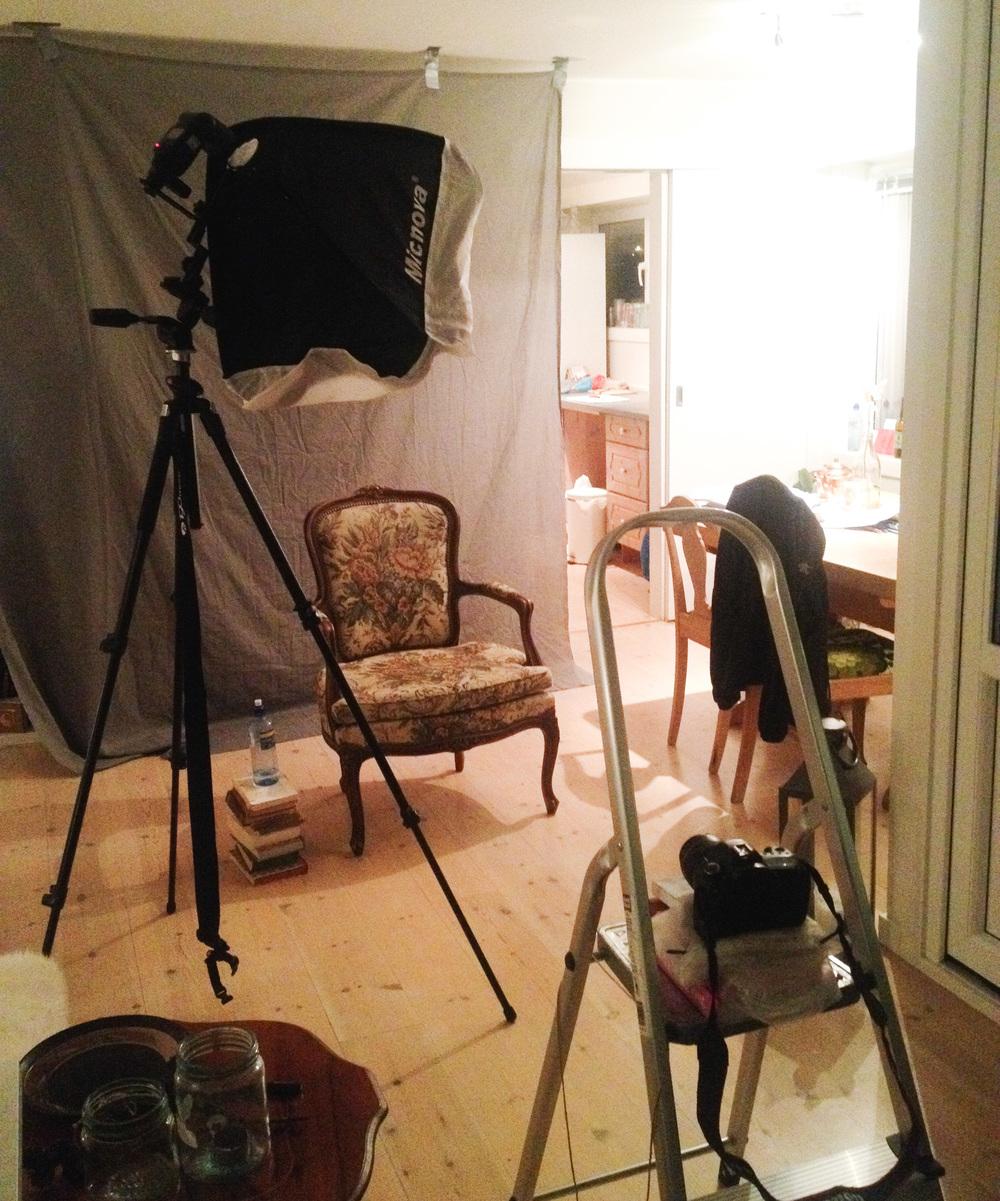 Hjemmelaget studio hos fotograf Siri Sødahl i Kristiansand