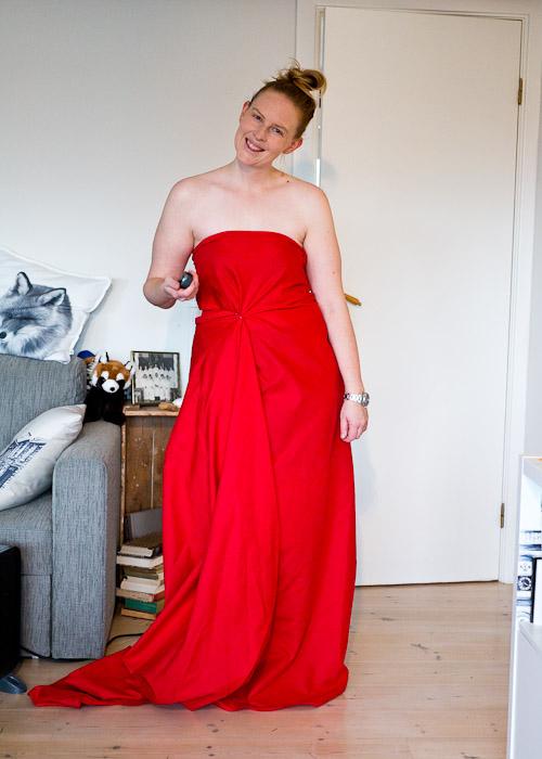 kjole ut av et stoffstykke