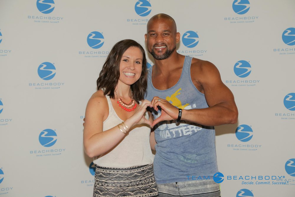 Jackie with INSANITY® creator, Shaun T.