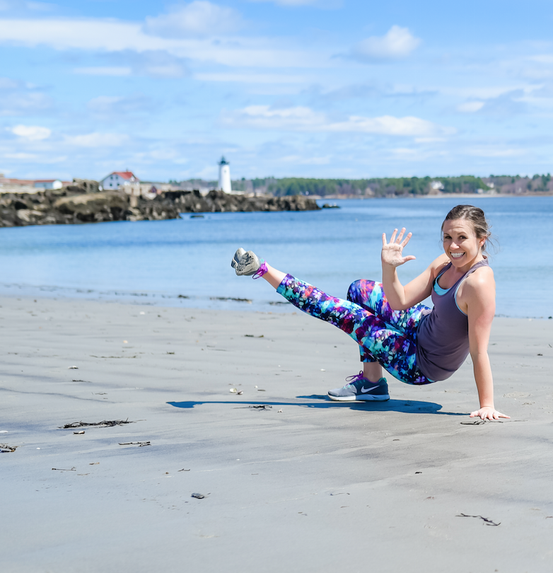 A signature move: the PiYo kick-through.