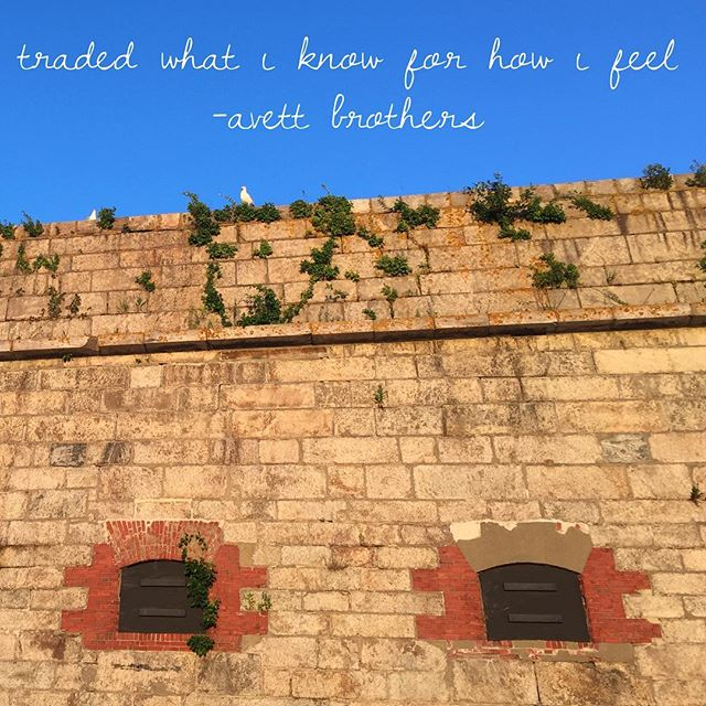 A #nofilter shot of my home for the long weekend + a quote that truly moved me as it echoed from the stage, blending in with the sounds of the seagulls. #nff #roadtonewport #avettbros #fortadams @newportfolkfest