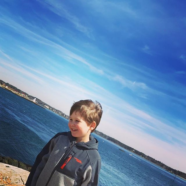 A week of being present with this kid 💙 #aprilvacation #staycation #nhseacoast