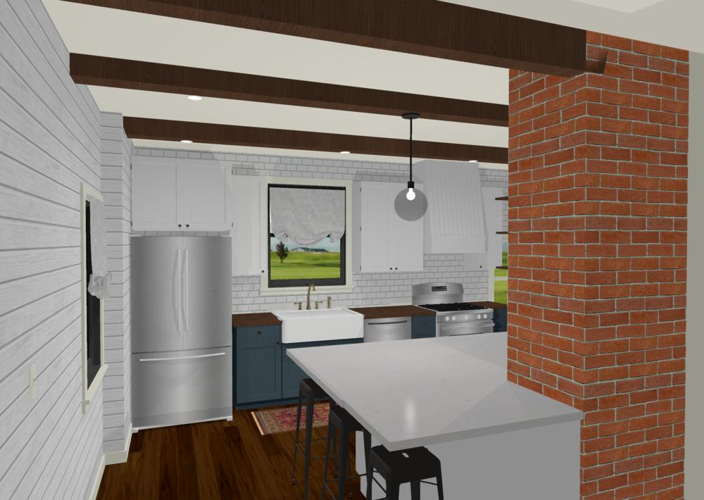 3D Floorplan Example - Kitchen Remodel