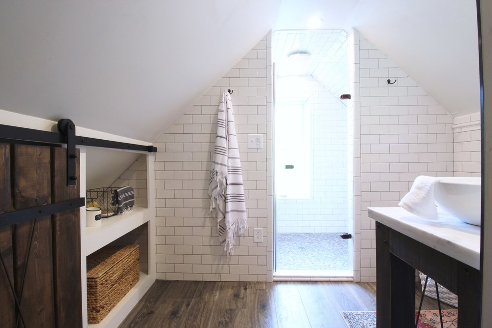 Attic Bathroom - After