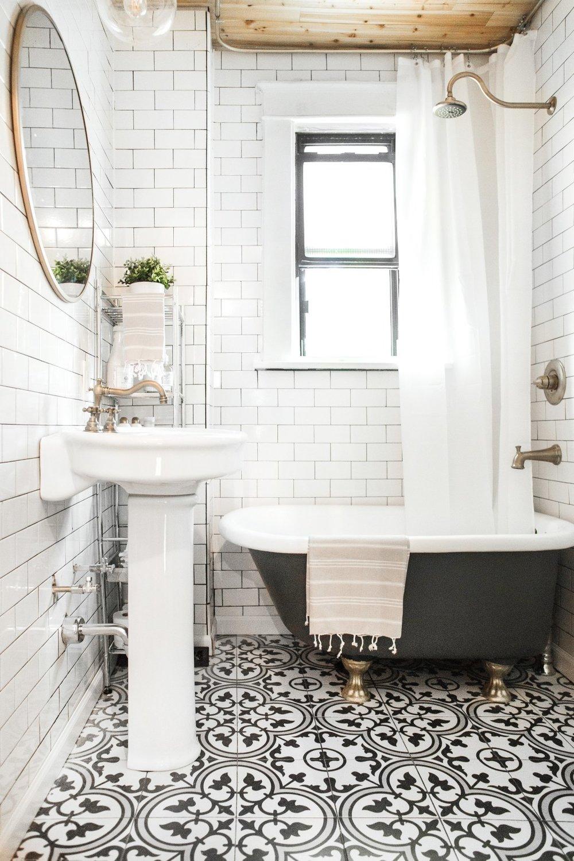 Black & White Bathroom - After