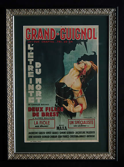 """Grand Guignol poster"" by Source. Licensed under Fair use via Wikipedia - https://en.wikipedia.org/wiki/File:Grand_Guignol_poster.jpg#/media/File:Grand_Guignol_poster.jpg"
