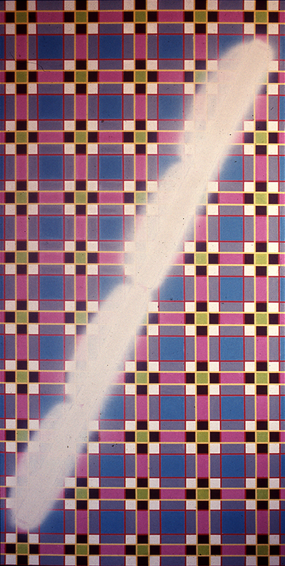 Dan Flavin on Plaid Ground 1967
