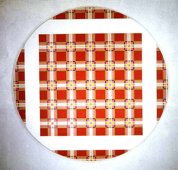 Red Plaid Tondo 1968