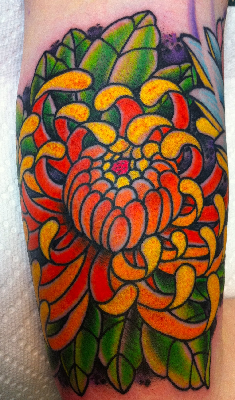 Jae portfolio electric lotus tattoo flower tattoos bright color tattooingnbspelectric lotus tattoo fort greene brooklyn new izmirmasajfo