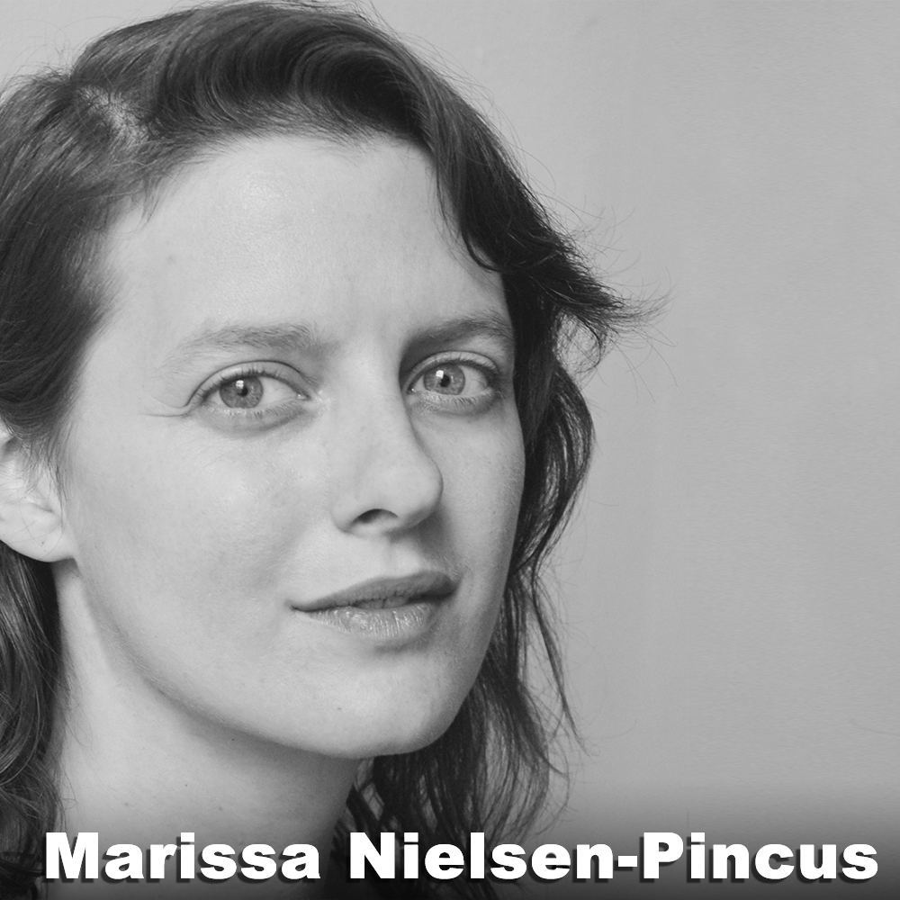 Marissa Nielsen-Pincus  (Associate Artistic Director/Original  Alice ) is a performing artist, teacher, and founding member and Associate Artistic Director of Third Rail Projects. Since 2001, she has been a collaborating artist on Third Rail's creative processes nationally and internationally. In addition to performing, Marissa led the rehearsal directing teams and was Assistant Director for  Then She Fell  and  The Grand Paradise  (2016), as well as a member of the directing team for  Learning Curve  (2016), Third Rail's collaboration with the Chicago youth theater company, APTP. Marissa teaches performance skills regularly in NYC, as well as nationally and internationally. She is also a certified Body-Mind Centering® Practitioner.
