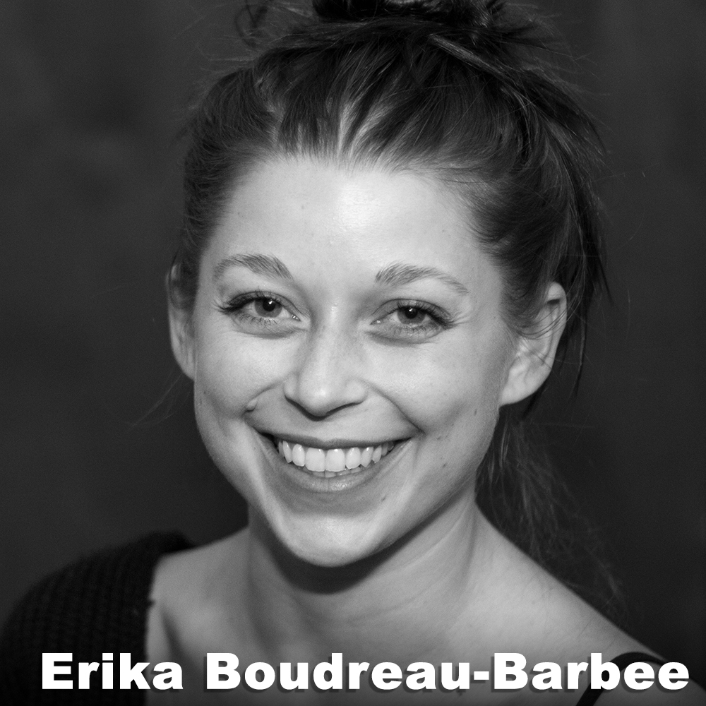 Erika Boudreau-Barbee  (Performer) has a BFA in dance from Tisch at NYU. In NYC she dances for Pilar Castro-Kiltz as a member and assistant for Ensemble Dance. In April 2015, she received a grant and premiered  Inner Peaces  for a solo exhibition at Tapir Lab Gallery in Berlin, Germany. When abroad, she hosts workshops both in movement and meditation at Takt Academy. Since 2013, Erika has been invited to be an artist in residence at Takt Gallery (Germany), at La Fragua (Spain), and has performed in festivals and exhibition openings in several countries. Although most of her work is movement based, she also has shown film, paintings, and created performance series with social and political context.   erikabb.com