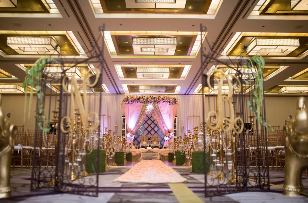 1.2.17 - Follow us every monday as we swoon over our favorite mandaps...#mandapcrushmonday this monogram gate is everything _3.jpg