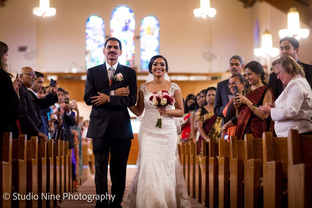 2.26.17 - Fun fact- did you know St. James Catholic Church has the longest aisle in New Jersey_ And our bride was glowing the whole way down!.jpg