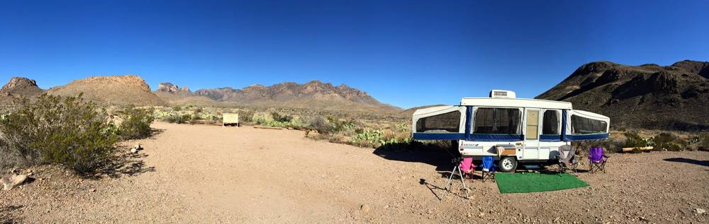 Camping in Big Bend, Texas