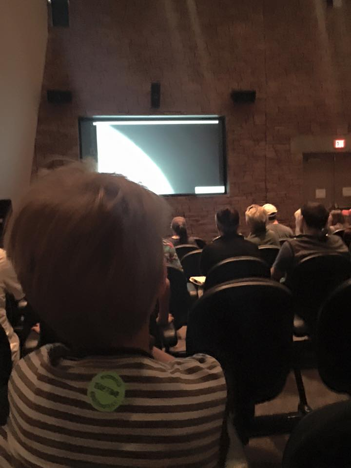 My future Space Engineer listening to a lecture on Solar Flares.