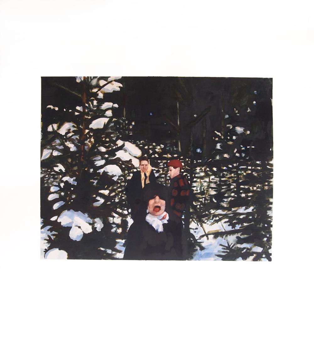 Image (Die Winterwald). 2014. Watercolor. 57cm x 67cm.