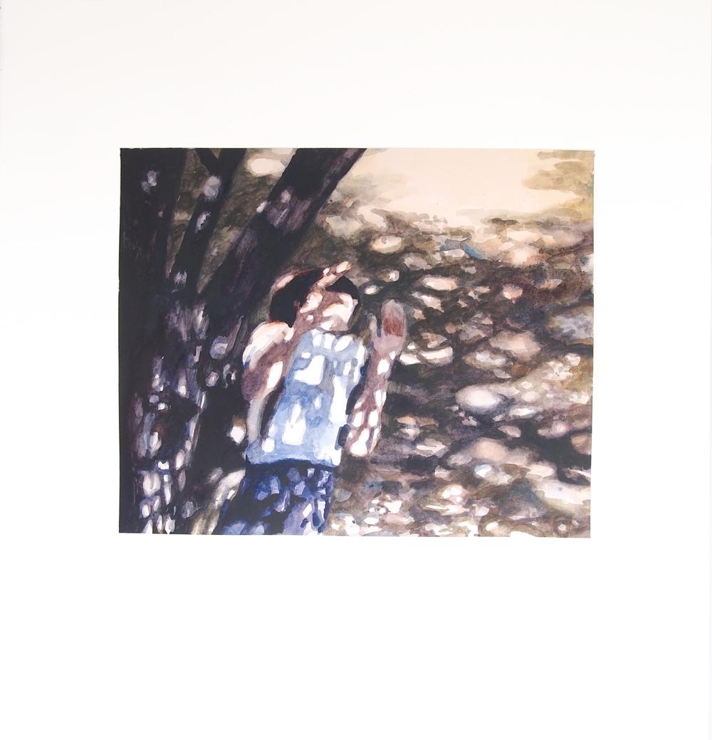 Image (Shot) . 2014. Watercolor. 57cm x 61.5cm.