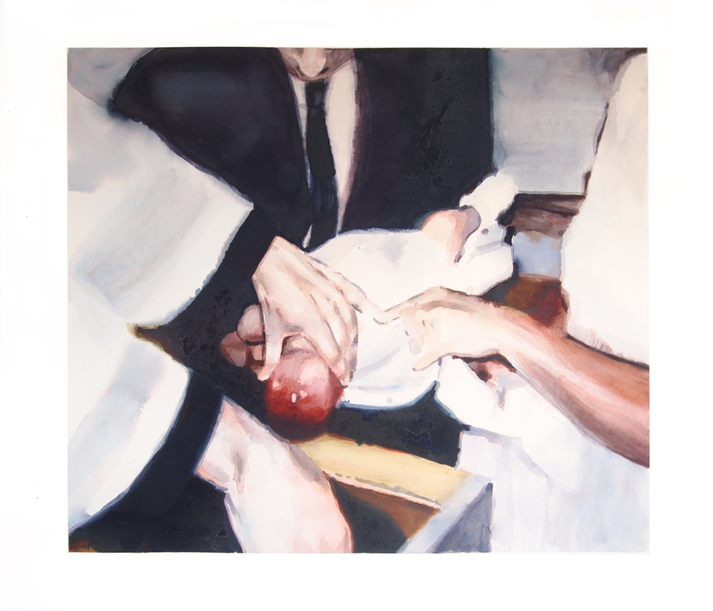 Baptism. 2015. Watercolor. 89 x 103cm. (35.25 x  40.5 in)