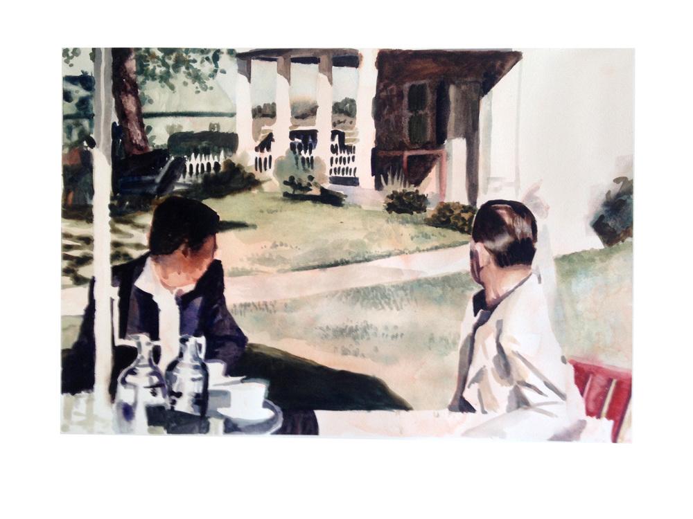 Image (At the Ranch). 2014. Watercolor.