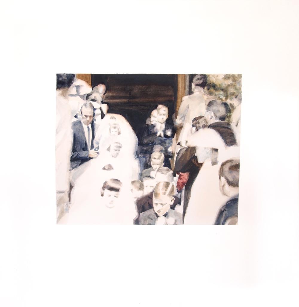 Image (First Communion) . 2014. Watercolor. 57cm x 60cm.
