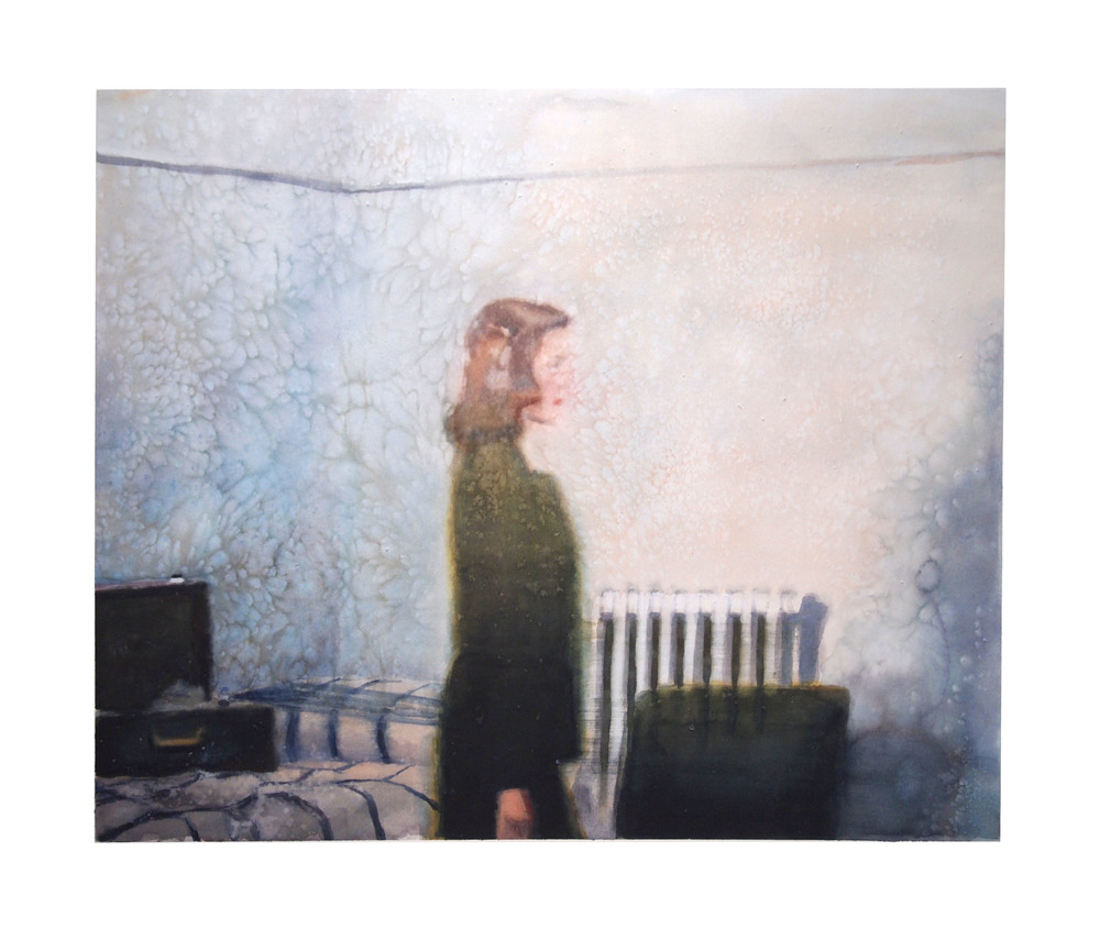 Talking to Yourself. 2016. Watercolor & Maldon Salt. 97cm x 114cm. (38.2 x 44.5in)