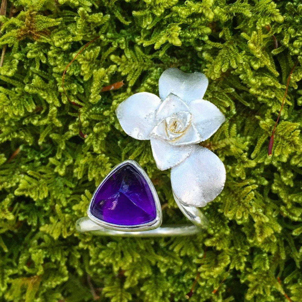 ring single silver succulent amethyst trillium.JPG