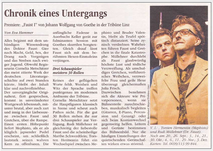 Volksblatt über Faust 1
