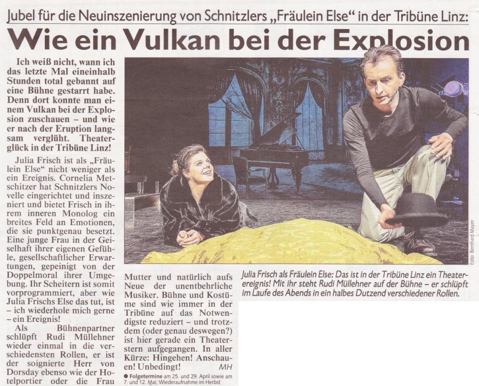 Kronen Zeitung über Fräulein Else