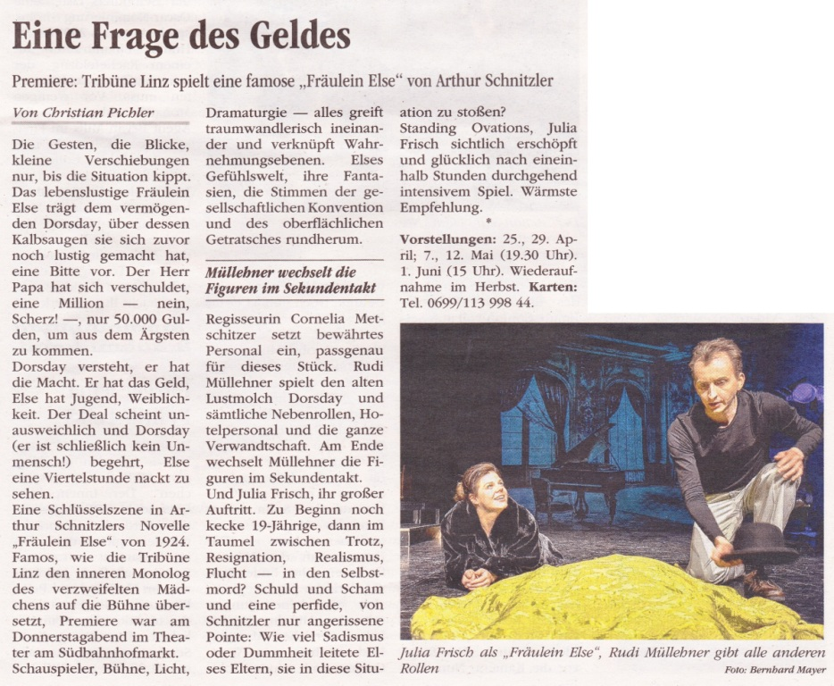 Volksblatt über Fräulein Else