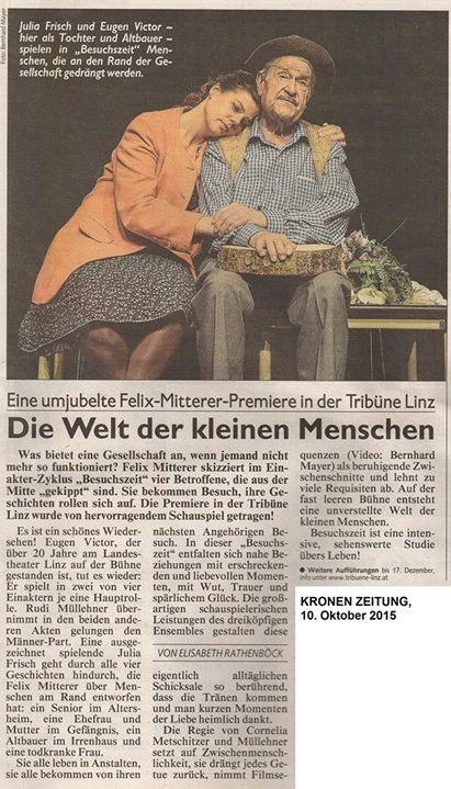 Kronen Zeitung über Besuchszeit