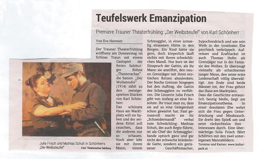 Volksblatt über Der Weibsteufel