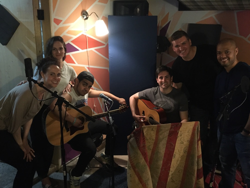 "Basement Studio Recording of ""When I Wash Up on the Shore"""