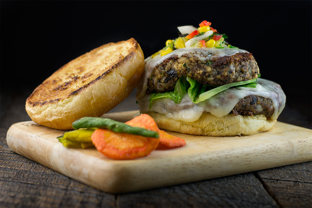 The Panner. Kale. Black Bean. Vegetarian and proud. Burger!