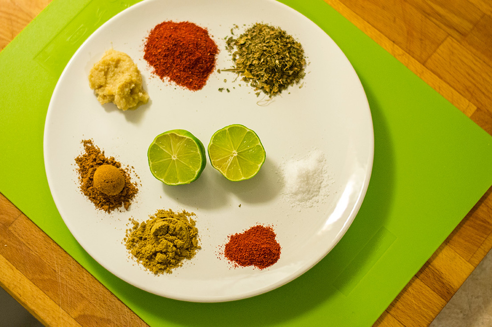 The spices for the chicken Marinade!