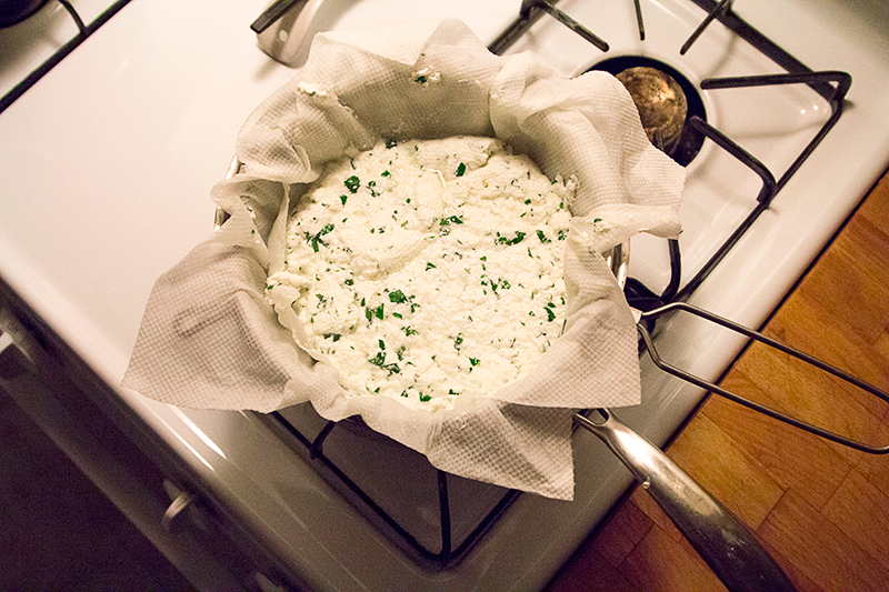 Fresh Cheese with Cilantro!