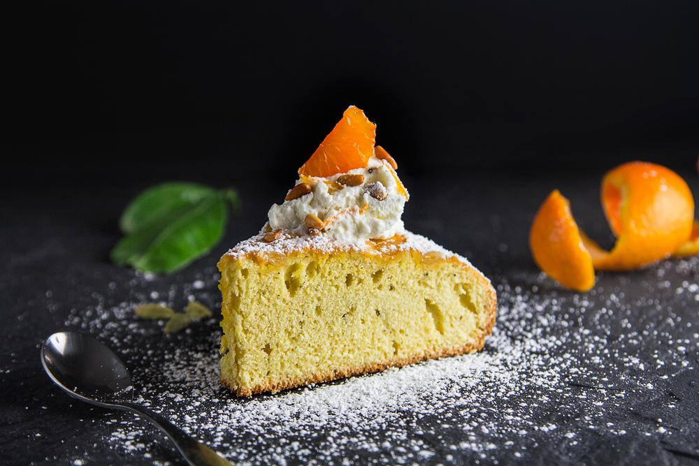 Satsuma and Cardamom Torta— Decadent