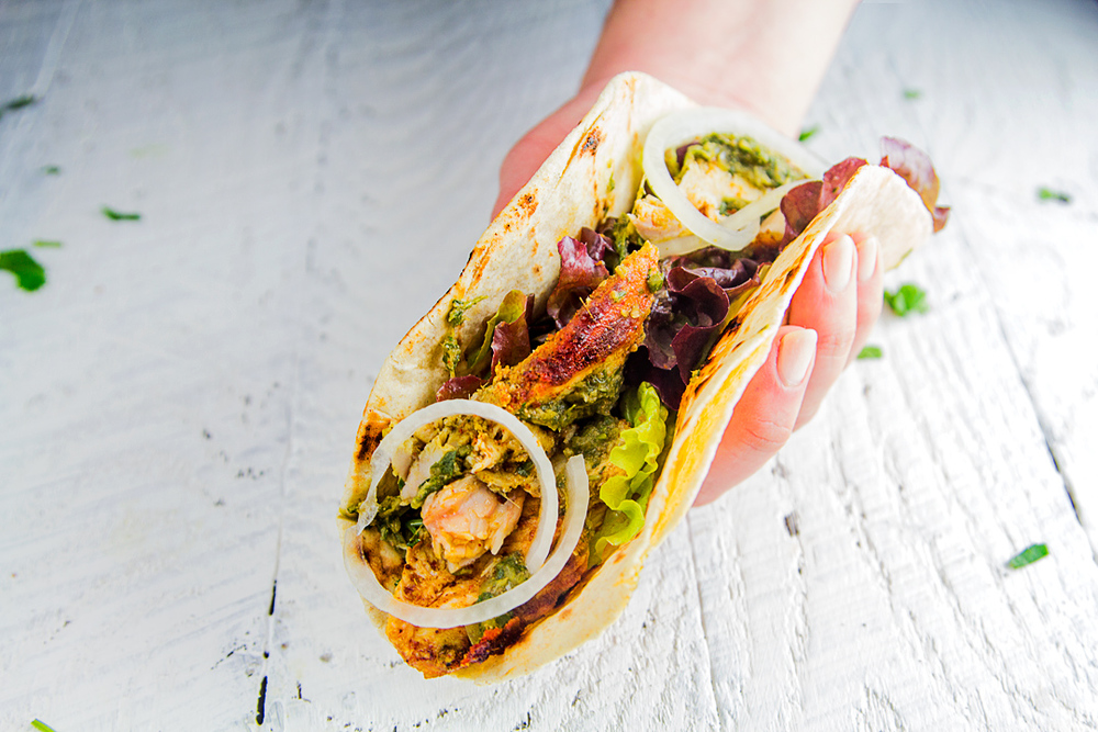 Whole Roasted Tandoori Chicken Wrap