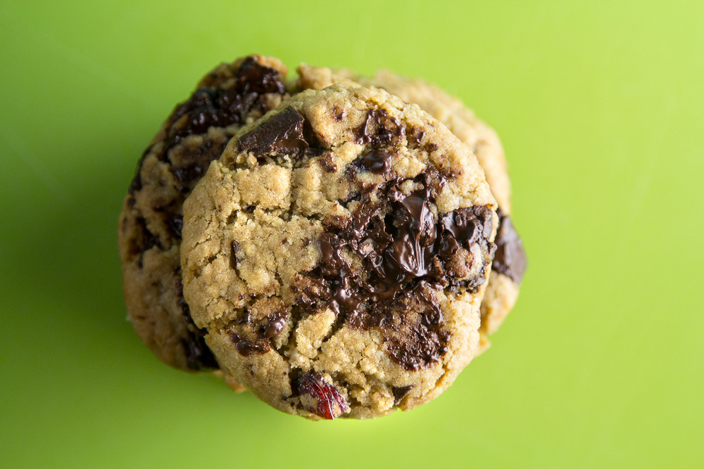 Leftover Dark Chocolate Chunk & Cranberry Cookies