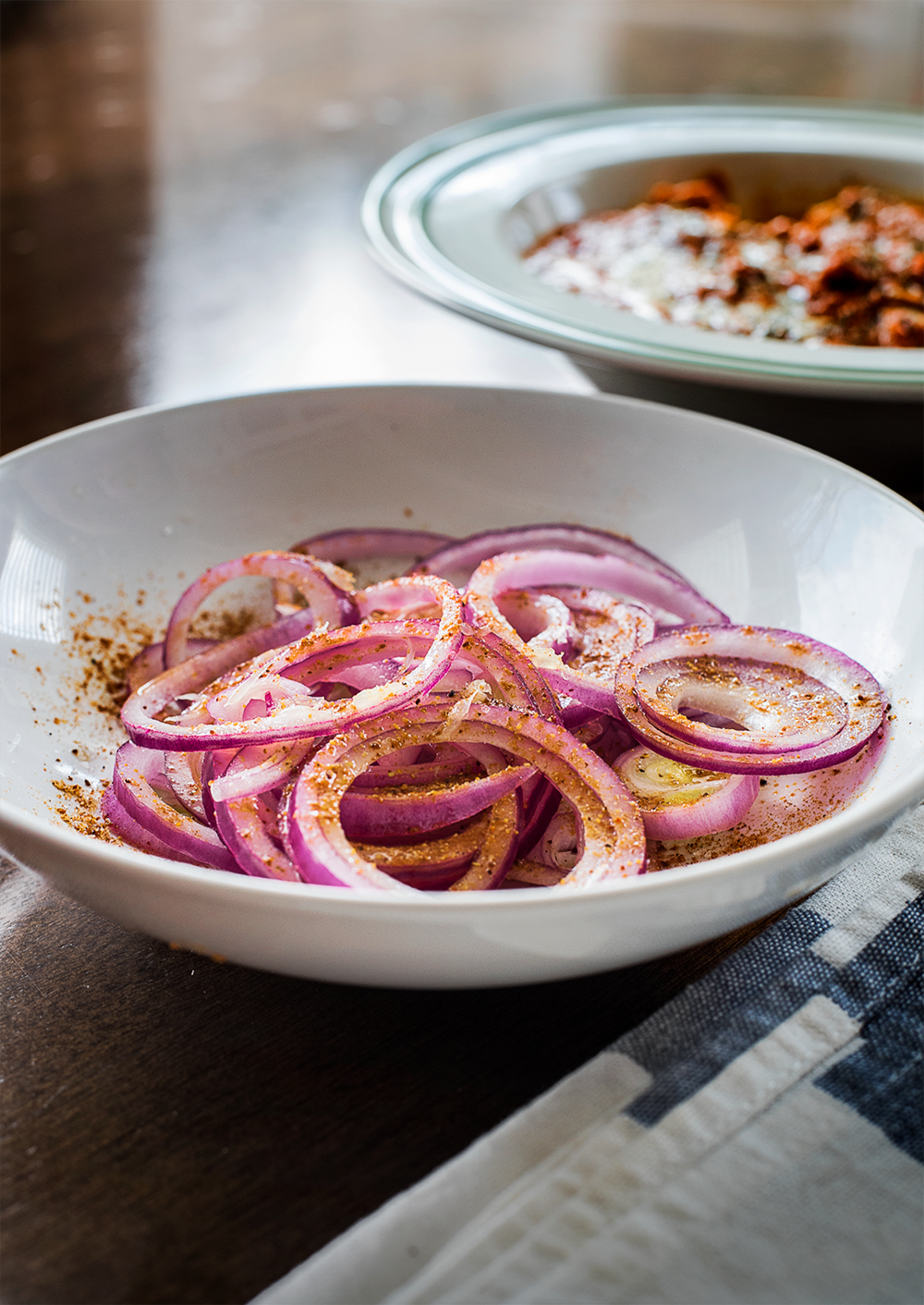 Onion salad with Chaat Masala