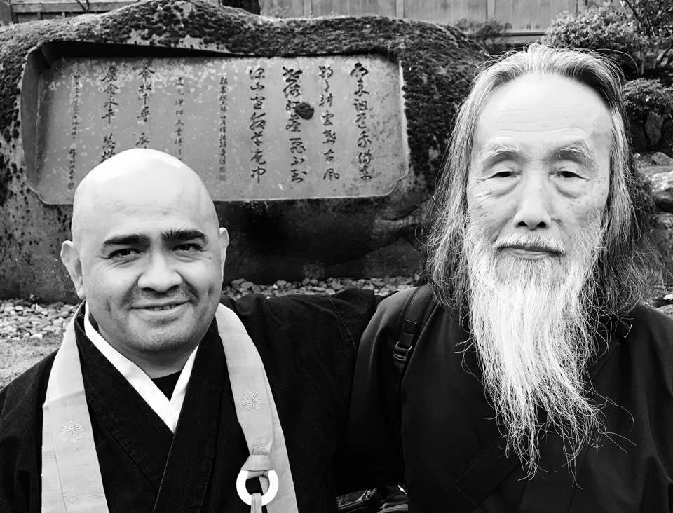 Sensei Kaz and Shinzan in Eihei Ji Japan
