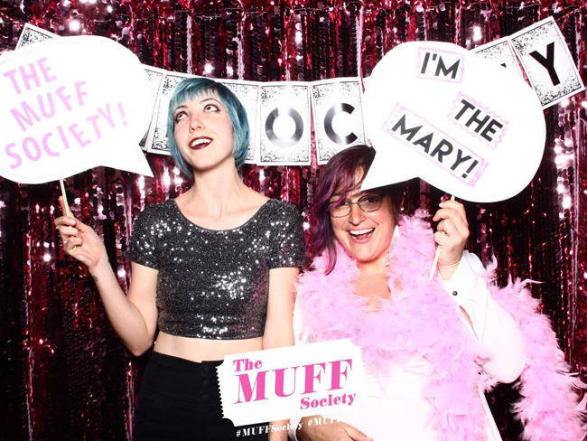 MUFF San Francisco Producers Chelsea & Tia break in the photobooth.