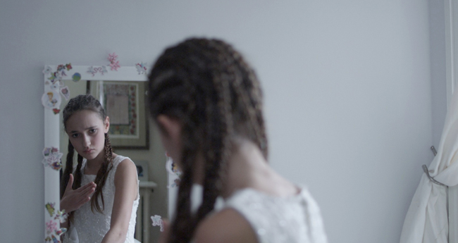 film still from Flower Girl