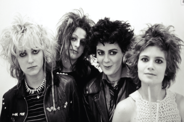Black and white photo of The Slits.