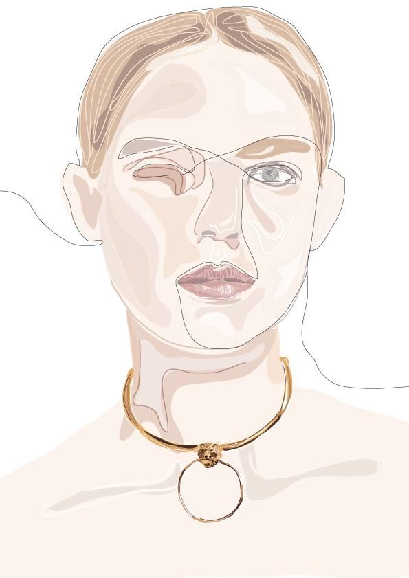 Drawing of Albrecht&Vera jewelry by Carina Ellen