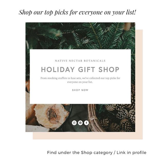 The Holiday Gift Shop is live! Visit our website (link in profile) to see our top picks for gifting this holiday season. From gift sets to stocking stuffers we've got natural, plant-based beauty + wellness products to make everyone on your list (including yourself) feel special. Oh, and just to make the season even merrier...FREE SHIPPING for all orders placed through Dec 24th. No code needed, contiguous U.S. orders only. 🎁🎁🎁 • • • • • #nativenectarbotanicals #cleanbeauty #plantbased #indiebeauty #greenbeauty #giftguide #christmasgiftideas #stockingstuffers #hannukah #beauty #wellness #health #glowingskin #healthyskin #nontoxic #organicskincare #bathandbody #skincareobsessed #freeshipping #giftshop #naturalbeauty #allnatural #skincareroutine #naturalsoap #prettypackaging #womanowned #madeincolorado #shopsmall #supportlocal