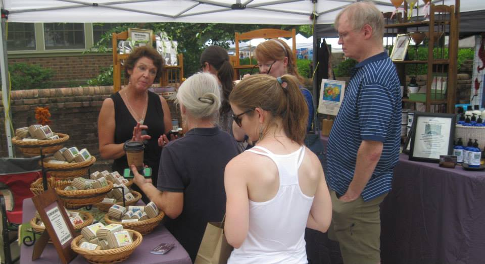 Tammy Rollins in Full Moonstruck Soaps Booth.jpg