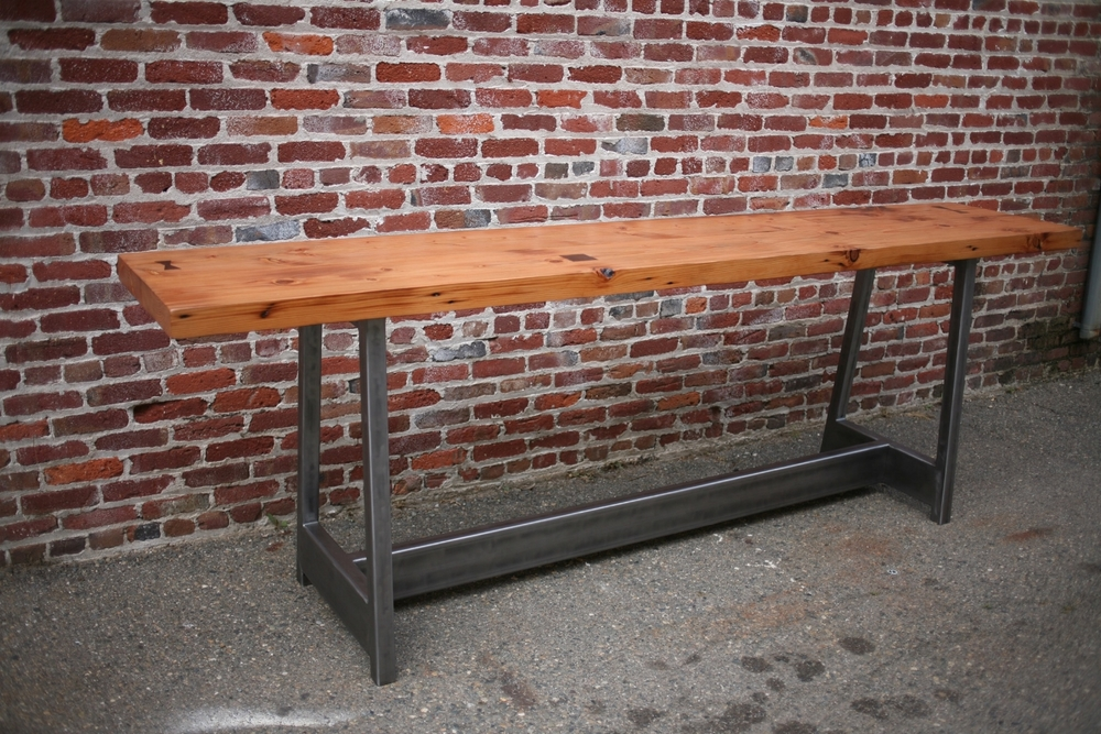 Custom coffee cupping table for Java City - 10' long x 4' tall x 2' wide